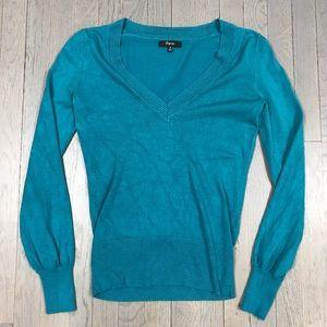 Express Deep V Neck Long Sleeve Pullover Sweater
